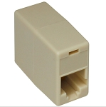 (COUPLE-6-RE)  RJ11 Modular In-Line Coupler, Female to Female, P1 to P6