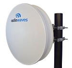 (HPPRO2-11RS) Radiowaves<br>2 ft High Performance Professional Line Antenna 10.7-11.7 GHz Single Polarized CPR90G Interface