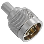 (202109-10)  Amphenol RF White Brass High Performance N-Type Terminator Plug Without Chain