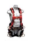 (66611)  Elk River Eagle Tower™ Nylon and Polyester Webbing (6) D-Ring LE Safety Harness, S, 310 lb