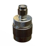 (AD-NM-RPSMAM)  Laird Brite Nickel Adapter, RP-SMA Male to N-Male, 100 - 5825 MHz