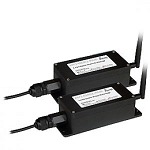 (AW2400R2-PAIR)  AvaLAN RS232 bridge pair (2) 2.4 Ghz radios with 2.5dBi Omni-Directional Multi-Point-Ready IP addressable browser- configurable outdoor RS-232 radio tr