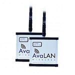 (AW900ITR-PAIR)  AvaLAN Ethernet bridge pair (2) 900MHz radios with 2.5dBi Omni-Directional Multi-Point-Ready IP addressable browser- configurable indoor Ethernet radio