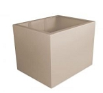 (CB24-DDC) 2 FOOT High STand Base CB3-Style with Corner Support Access Panels Painted Cream
