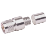 (EZ-600-NMK)  Times Microwave Silver Brass Straight N-Male Connector For LMR-600 Cable
