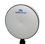 (HP4-5.9RR) Radiowaves High Performance, 4' Parabolic, 5.925 - 6.425 GHz, Direct Mount, REMEC Rectangular Antenna