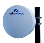 (HPD2-18RS) Radiowaves<br> Radiowaves<br>2 ft Dual Polarized High Performance Shielded Parabolic Reflector Antenna, 17.7 - 19.7 GHz, 38.4 dBi