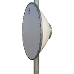 (SC3-W100AC) RFS Antenna<br>3 ft CompactLine Easy Antenna 10.0 - 11.7 GHz single polarized Flange CPR90G S-Mount for 89-114 mm pipe