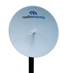 (SP3-2/5NS) Radiowaves<br> 3 ft Dual Polarized Standard Performance Unshielded Dual Band Parabolic Reflector Dish Antenna, 2.4 - 2.5 GHz and 5.725 - 5.85 GHz, 24.1 and 31.5 dBi