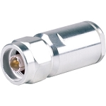 (TC-600-NMC)  Times Microwave Silver Brass Straight N-Male Connector For LMR-600 Cable